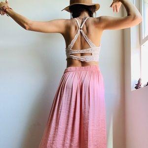 Dresses & Skirts - Salmón Silky Maxxi Skirt 💕